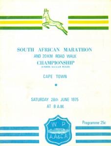 1975 South African Marathon Programme