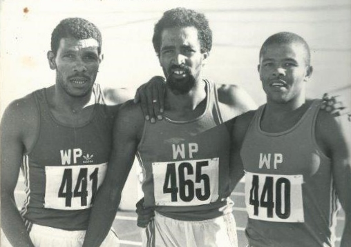Western Province team mates Edwin Roems, Mark Jacobs and Jantjie Marthinus in the early 1980s.