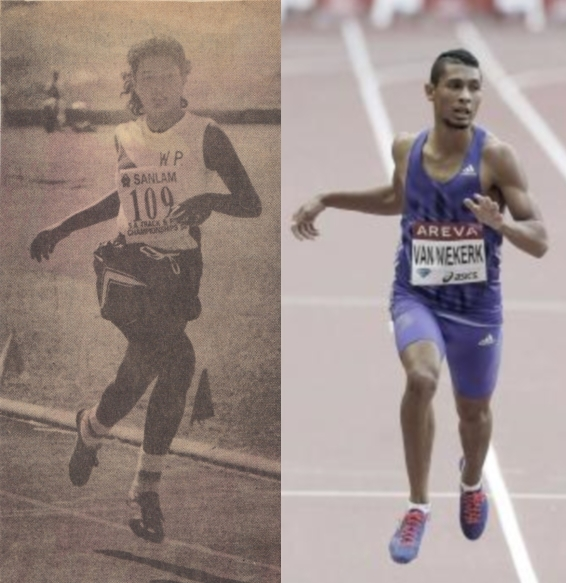 Olympic gold medalist Wayde van Niekerk and his mother Odessa Krause (Swarts) have a similar running style.