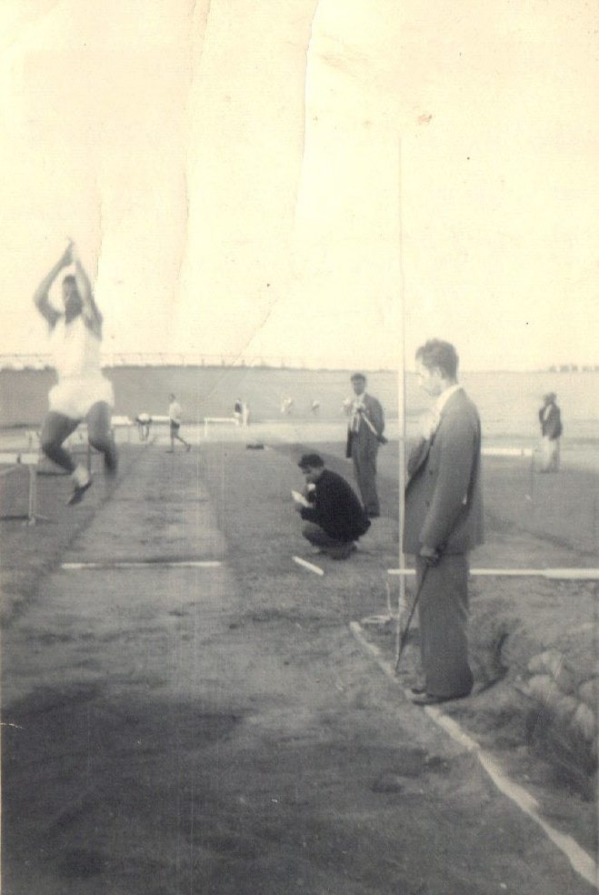William Londt seen competing in his favourite event, the long jump.
