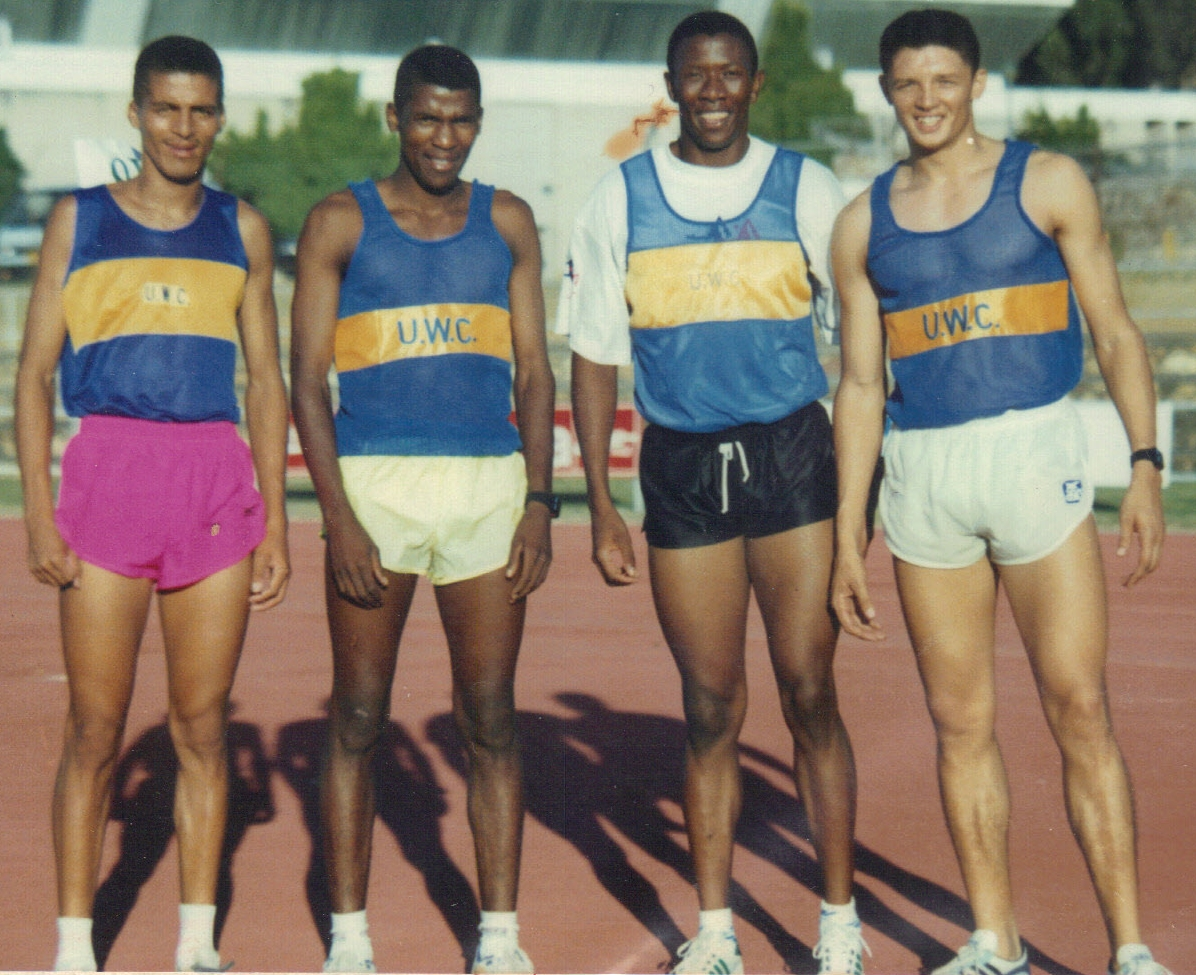 Derrick Fredericks, Ebenezer Felix, Bobang Phiri and Kevin Kiewits.