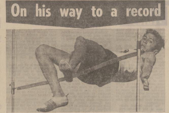 Gary Lewis' record-breaking jump